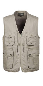 Mens Casual Outdoor Work Utility Safari Fishing Travel Vest with Pockets