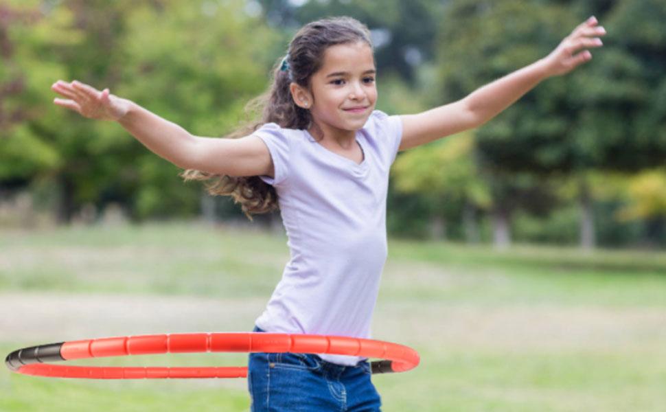 red fitness hoop model