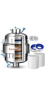 Rotación de 360 Grados-con Boquilla de Silicona- Ultra Fino Ahorro de Agua Regaderas Fijas