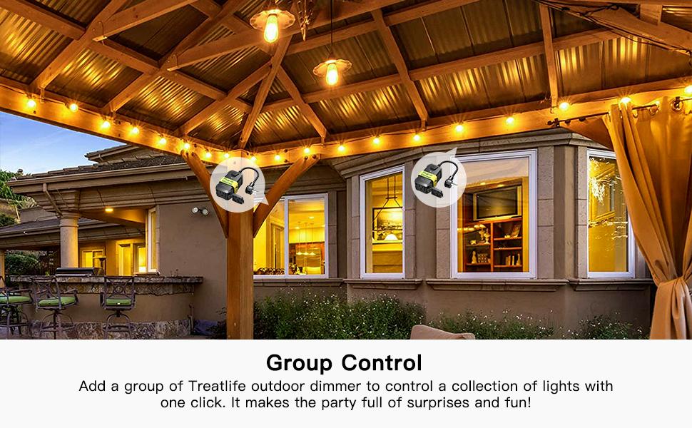 TREATLIFE outdoor smart plug, group control