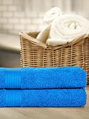"""2pcs Soft Cotton Bath Face Hand Towel Strong Absorbent Hotel Home Spa Gym 14x28/"""""""