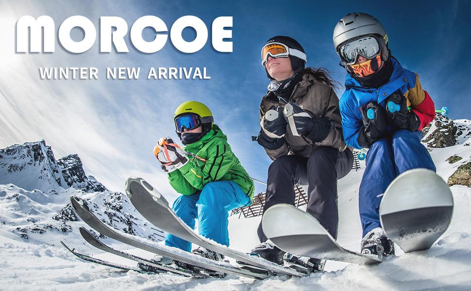MORCOE Boys Waterproof Fleece Ski Jacket Winter Outdoor Windproof Snowboarding Snow Coat Travel Outerwear Raincoats
