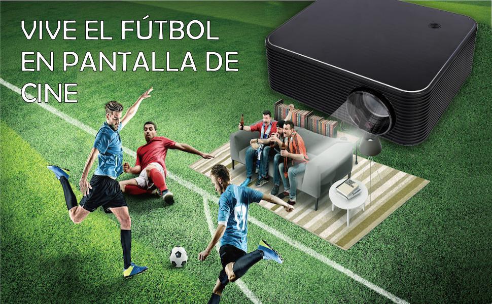 xsagon hl600 vive el futbol en pantalla de cine
