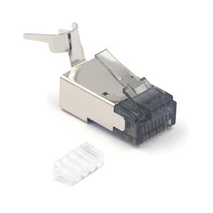 Nickel Plated Shielded RJ45 Modular Plug