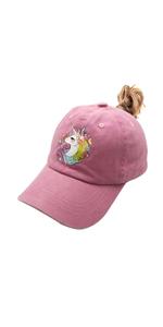 unicorn girl magic believe cute lovely dad hat vintage washed cotton pink women baseball hat cap
