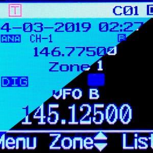 dmr selectable background blue black anytone at-d868uv at-d878uv