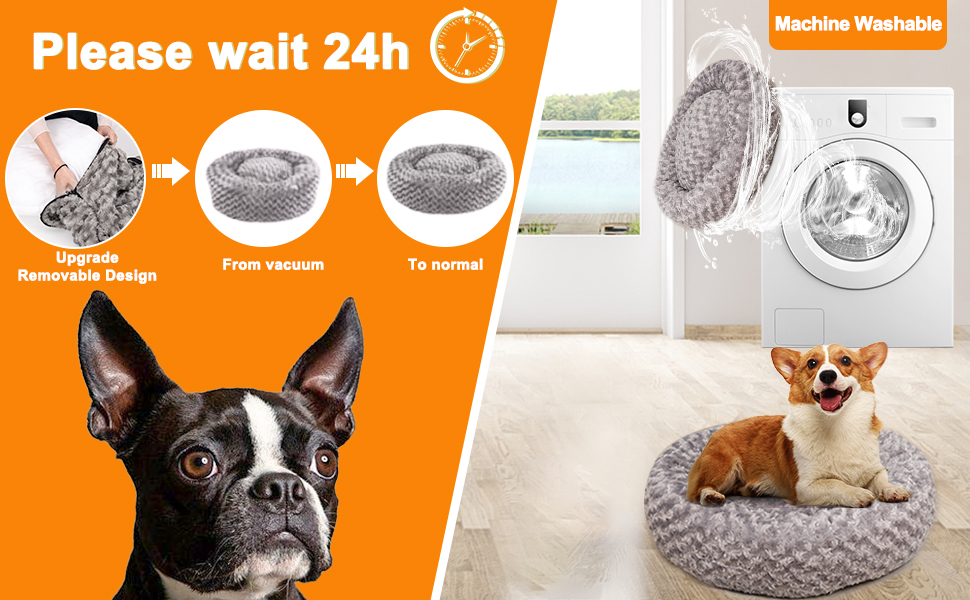 machine washable removable dog bed