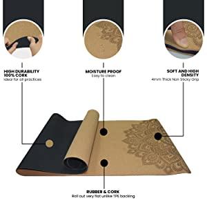Benefits of the cork yoga mat highlighted