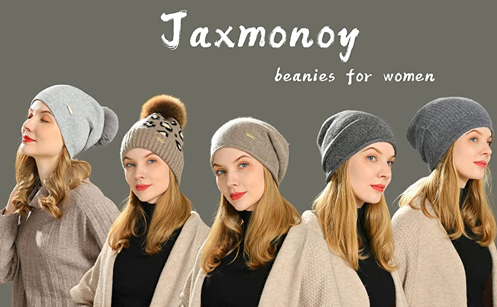 slouchy beanie hat for women cashmere