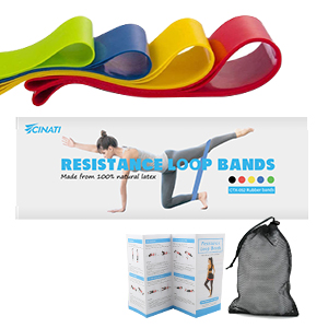 exercise manual, store bag, portable resistance band