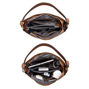 2019 bolsos sintéticos para mujeres jóvenes bolso de mujer de coñac marrón con correa