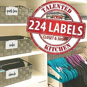 Script Closet labels