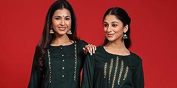 straight kurta, basic kurta, solid kurta, embroidery