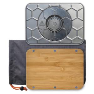 ncamp kitchen to go basic kit bundle wood burning stove bamboo prep surface drawstring carry bag