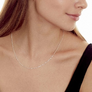 costume mens womens Silver jewelry long choker necklaces karat dainty hypoallergenic real mother