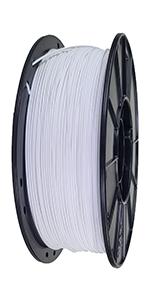 White PLA 3D Printing Filament