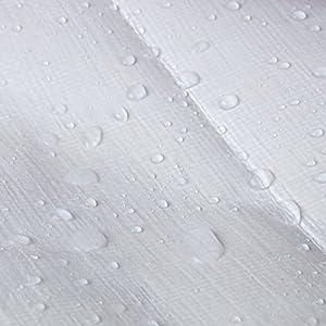 WOLTU GZ1211szg04 B/âches de protection PE,couverture /étanche B/âches couverture de bateau,b/âche /étanche et ind/échirable,3x5m 280g//m/²,Gris-Noir