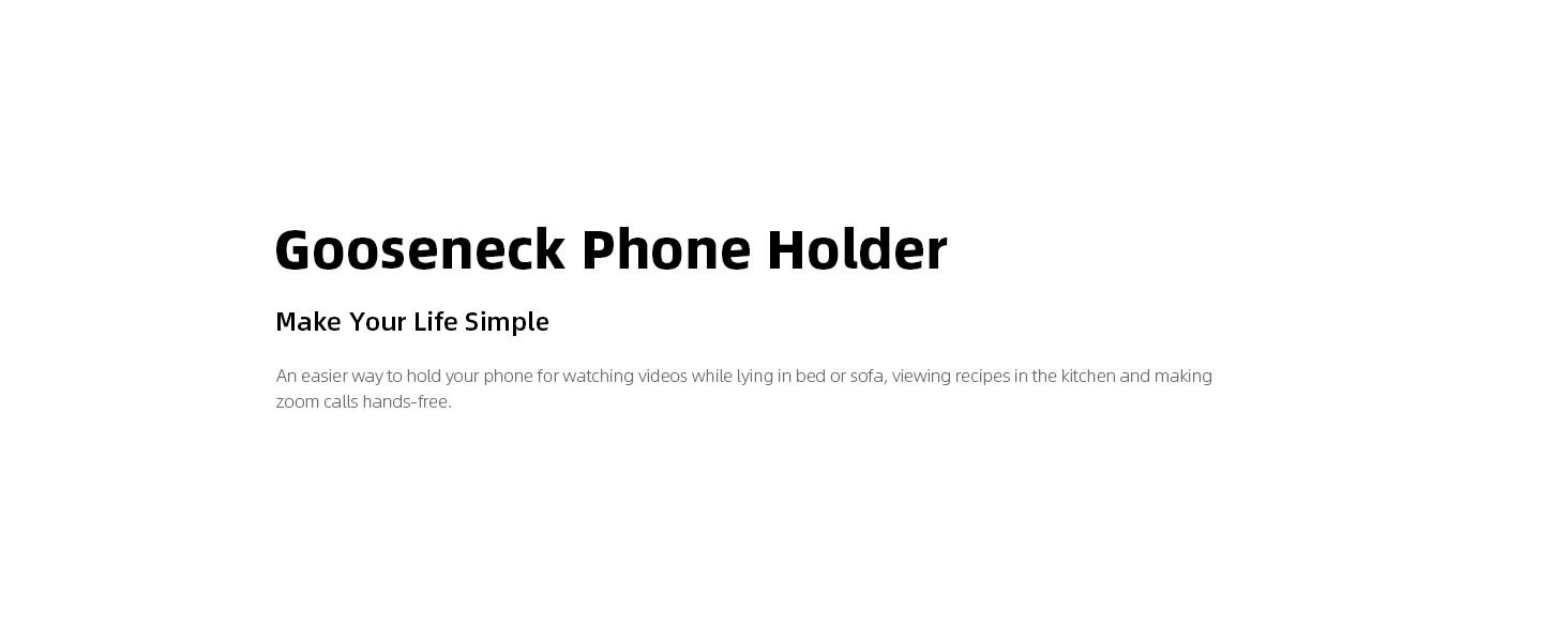 gooseneck phone holder