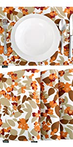Blossoms of Flowers Place Mats