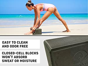 yoga block with water not absorbing