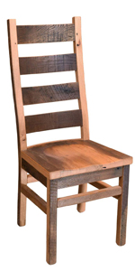 akron reclaimed barnwood side chair repurposed furniture home decor wooden chair made in the usa