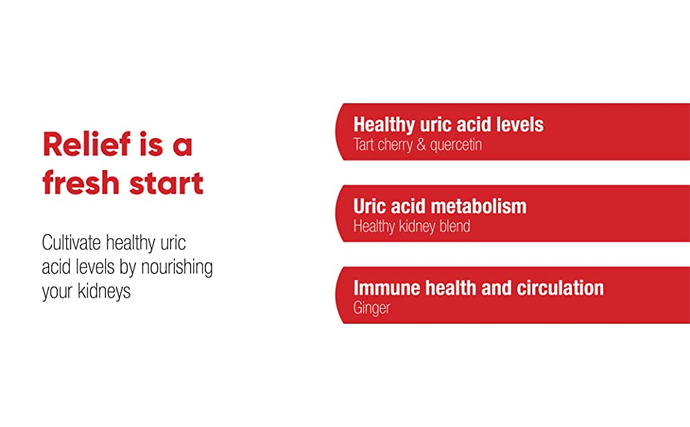 Relief is a fresh start. Cultivate healthy uric acid levels by nourishing your kidneys