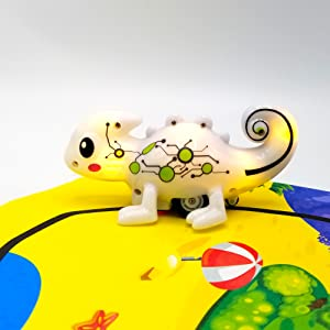 color tracer chameleon,inductive toy,LED color light changing,follow the black line you draw