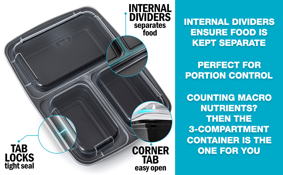 meal prep containers bpa free reusable plastic food storage compartment stackable bento lunch box