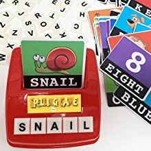 Learning Games Educational Toys Letter tiles vocabulary scrabble spelling words reading writing