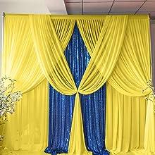 sheer chiffon backdrop drapes