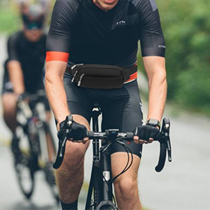 Cycling with waist pack