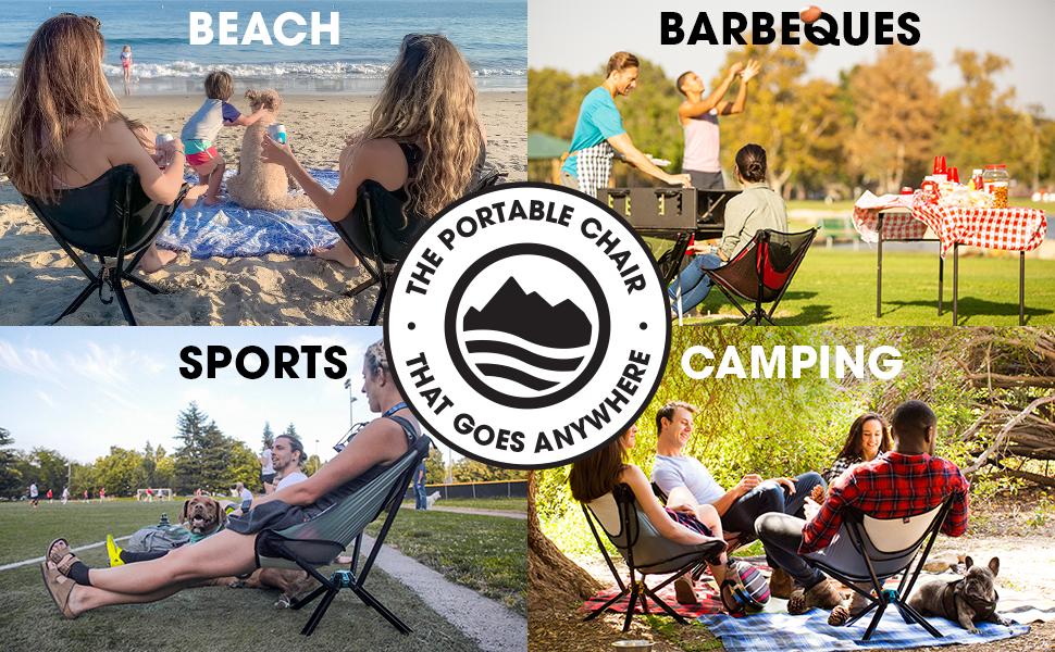 Cliq Camping Chair Beach Barbecues Sports Camping Outdoor Chair Camp Chair Folding Chair Portable