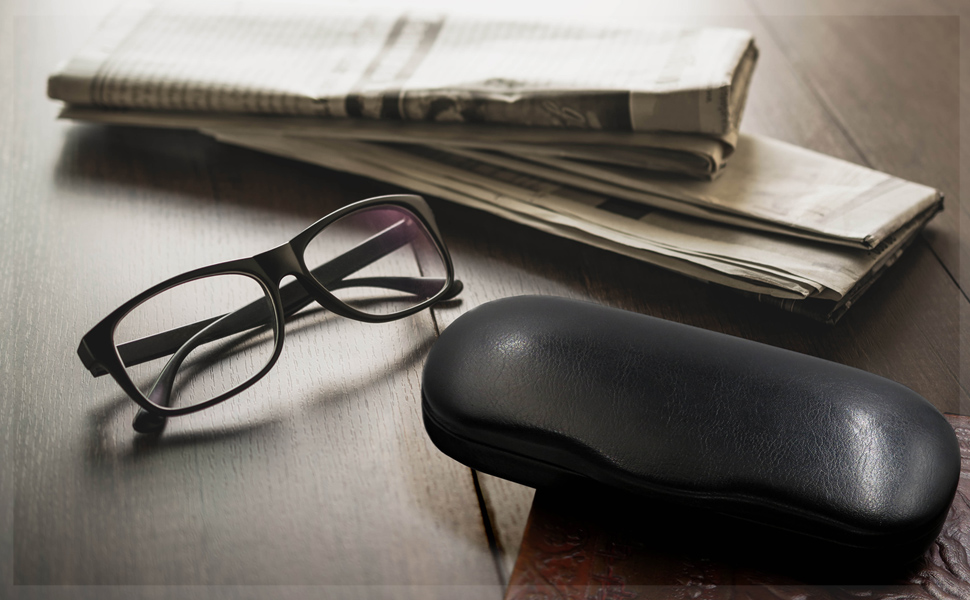 small medium hard eyeglass case metal clamshell slim glasses case reading myeyeglasscase