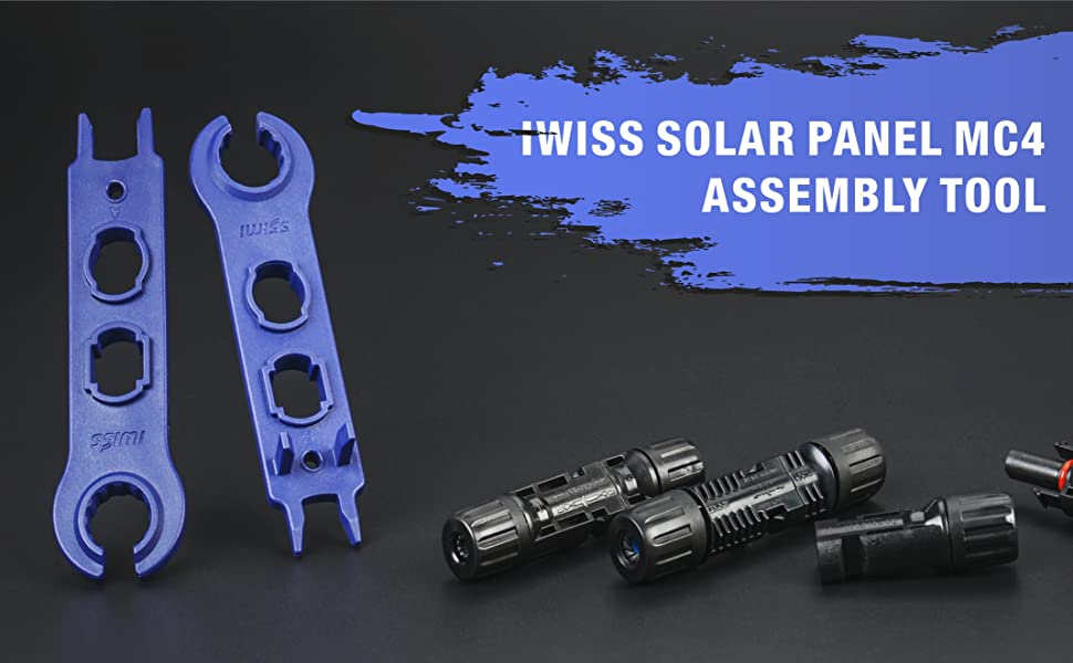 IWISS solar panel MC4 assembly tool