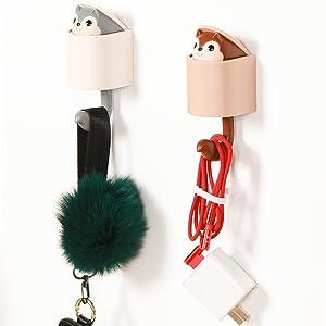 Amazon Com 4pcs Adhesive Hooks Cute Cartoon Creative Squirrel Wall Hooks 4 Colors Heavy Duty Wall Hooks For Kid S Room Living Room Bedroom Home Improvement