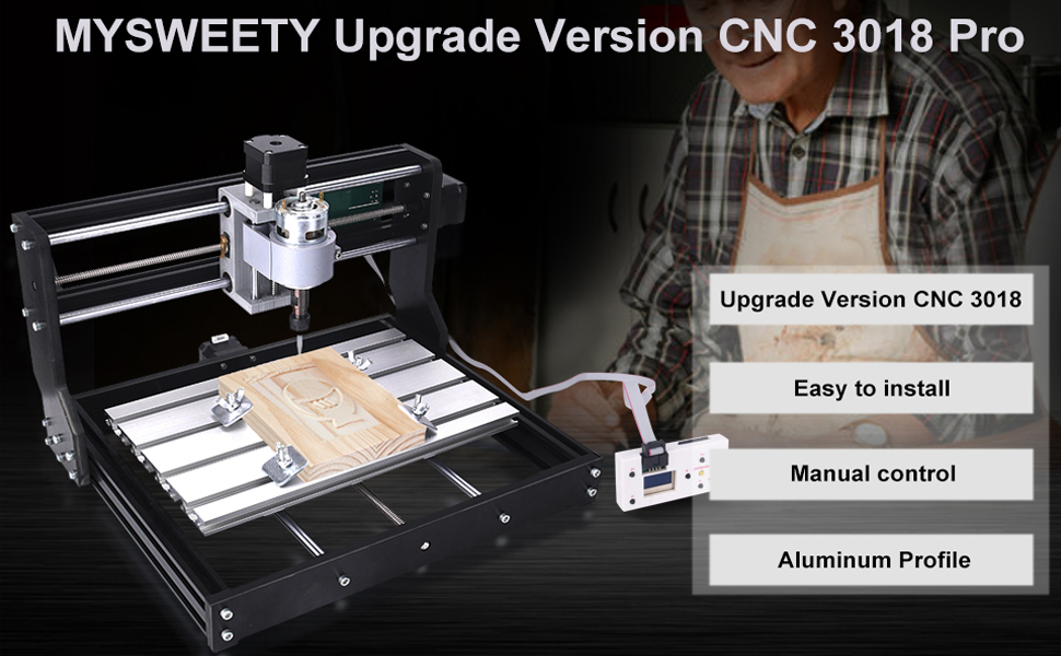 Upgrade Version CNC 3018 Pro GRBL Control DIY Mini CNC Machine, 3 Axis Pcb  Milling Machine, Wood Router Engraver with Offline Controller, with ER11