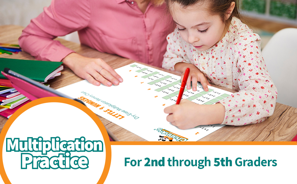 multiplication practice for 2nd through 5th graders