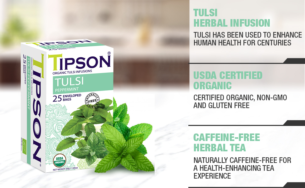 tulsi peppermint herbal tea