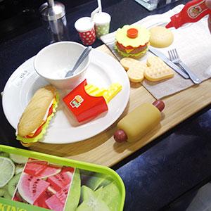 Best Gift For Kids Hamburger French Fries Variety Toys Gift for Kid