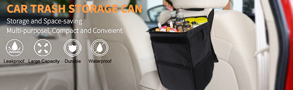 trash bag for car container for vehicle