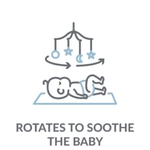 Rotates to Soothe the baby