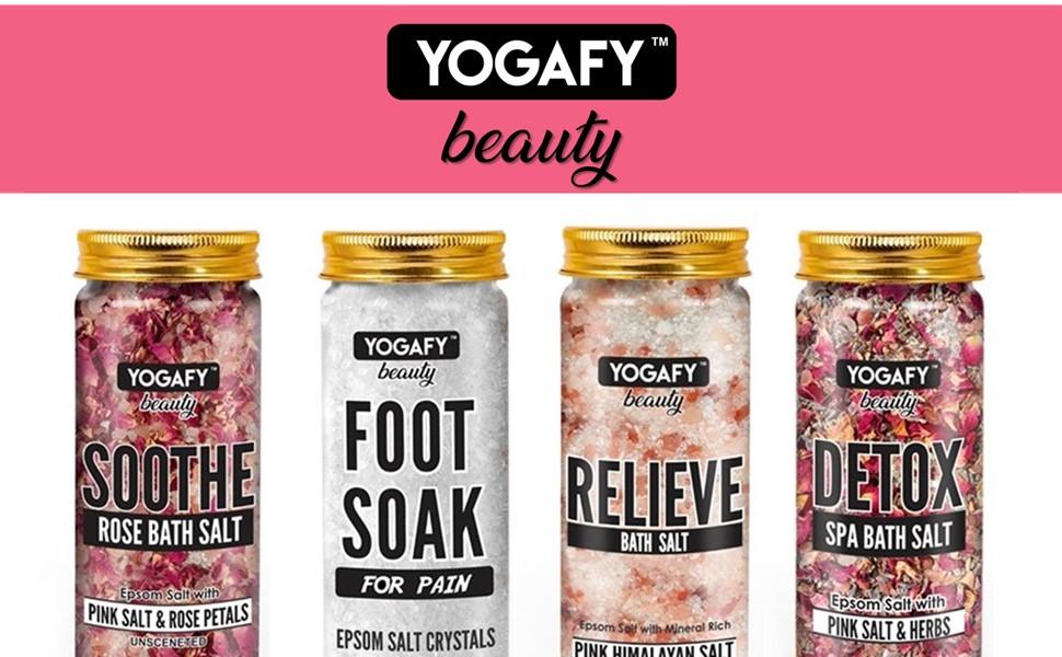 Yogafy, Bath Salt, Foot Soak, Beauty bath, Detox, Pain Relief Salt, Dead cells, Relieve, Soothe