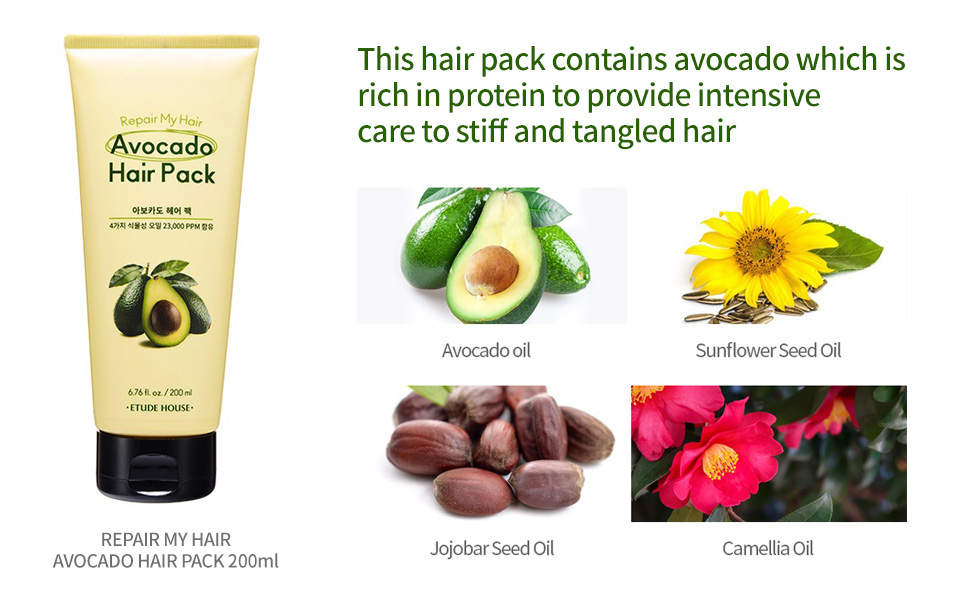 Repair My Hair Avocado Hair Pack 200ml