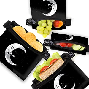 reusable snack sandwich bags food bag dishwasher safe kid adult shopping eco fruit set Hello Moon