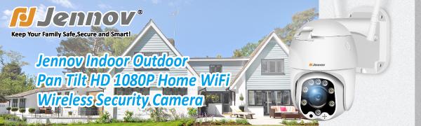 Jennov Indoor Outdoor Pan Tilt HD 1080P Home WiFi Wireless Security Camera