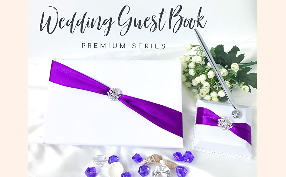 Classique Style Satin Flower Guest Book Guest Signature Wedding Accessory