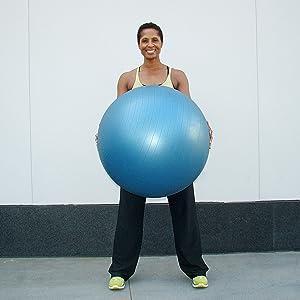 black exercise ball