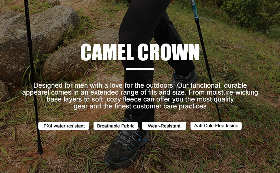CAMEL CROWN Pantalones Softshell para Mujer Impermeables a Prueba de Vientos Pantalones Forrados de Lana Pantalones de Esqu/í con Aislamiento para Acampada Trekking Viaje Senderismo al Aire Libre