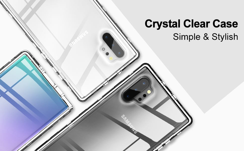 crystal clear cases for galaxy note 10 plus