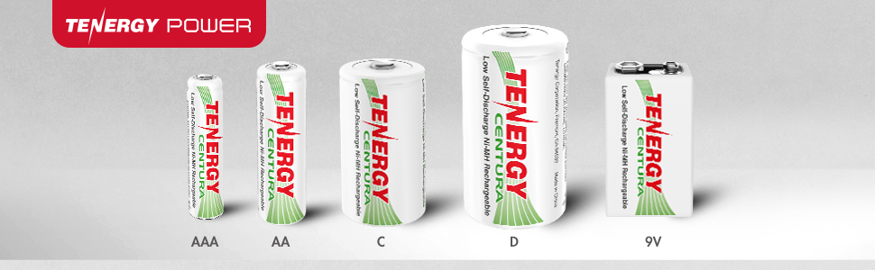 Tenergy power centura rechargeable batteries with low self discharge